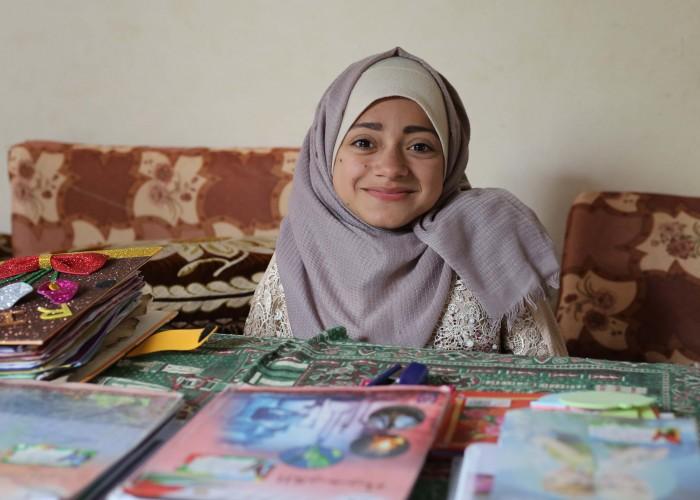 """ريهام:  معلمة الصف الأول كانت تعتقد أن """"المعاقين"""" لا ينجحون"""