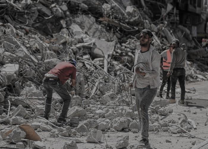 للخلف دُرّ: إعادة تدوير مخلفات الحرب لاستخدامها في الإعمار