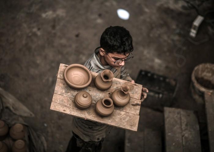 صناعة الفخار تنتعش مجددًا في غزة  (صور)